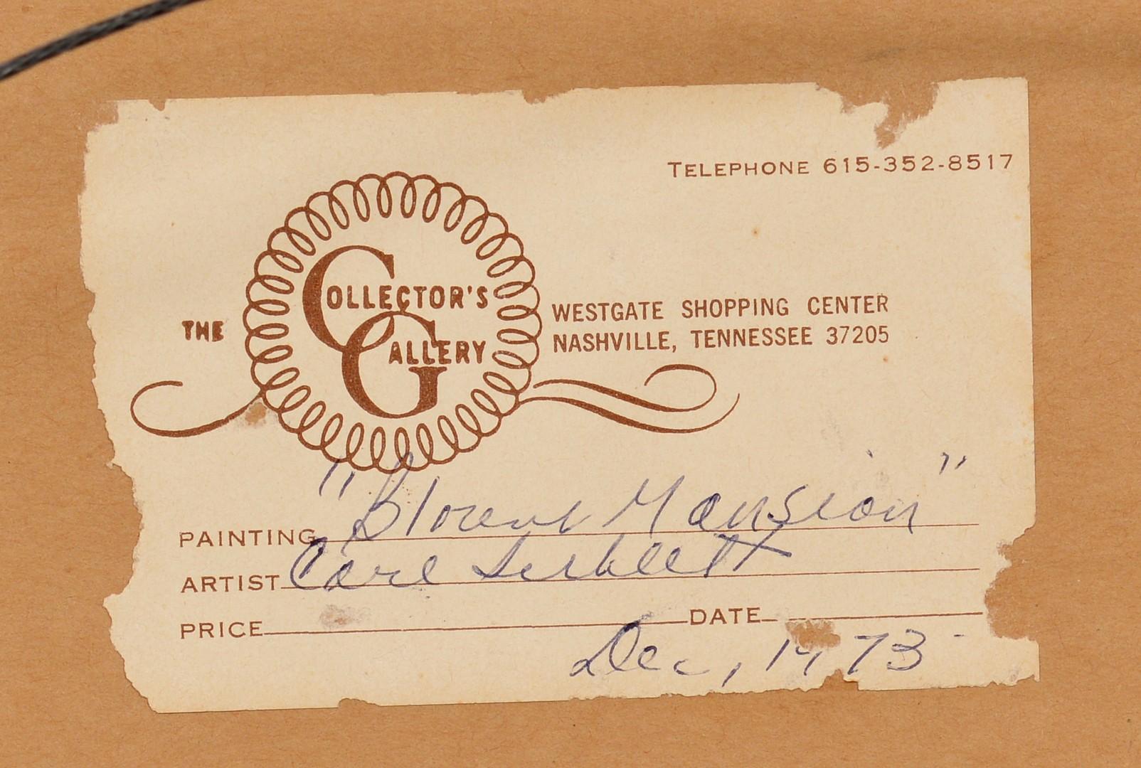 Lot 215: Carl Sublett, Blount Mansion