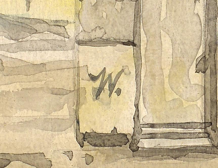 Lot 216: Werner Wildner Surrealist Painting