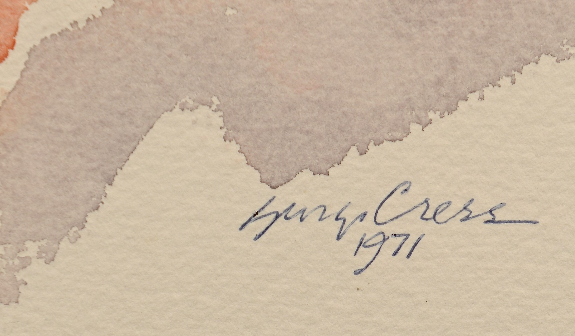 Lot 219: George Cress TN Cubist Watercolor