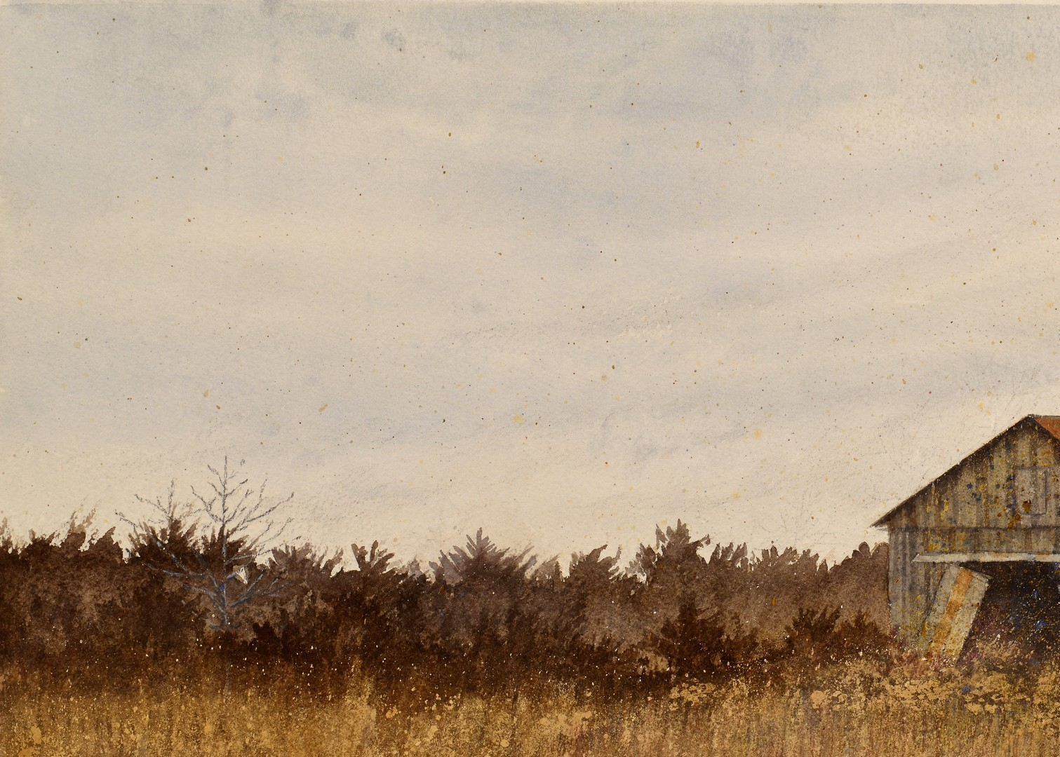 Lot 220: Pauline Wallen Prize Winning Landscape Watercolor