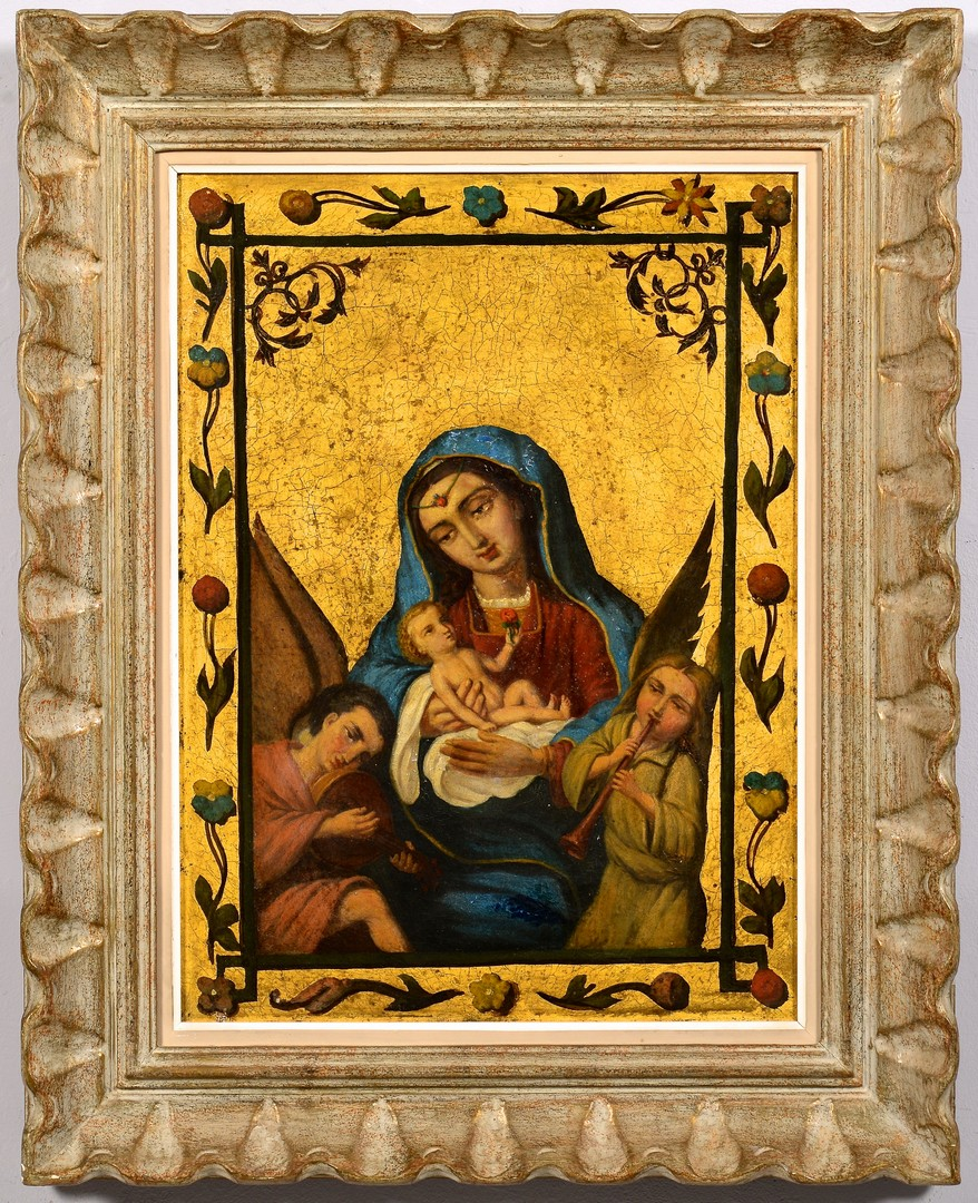 Lot 223: Madonna & Child Oil on Canvas