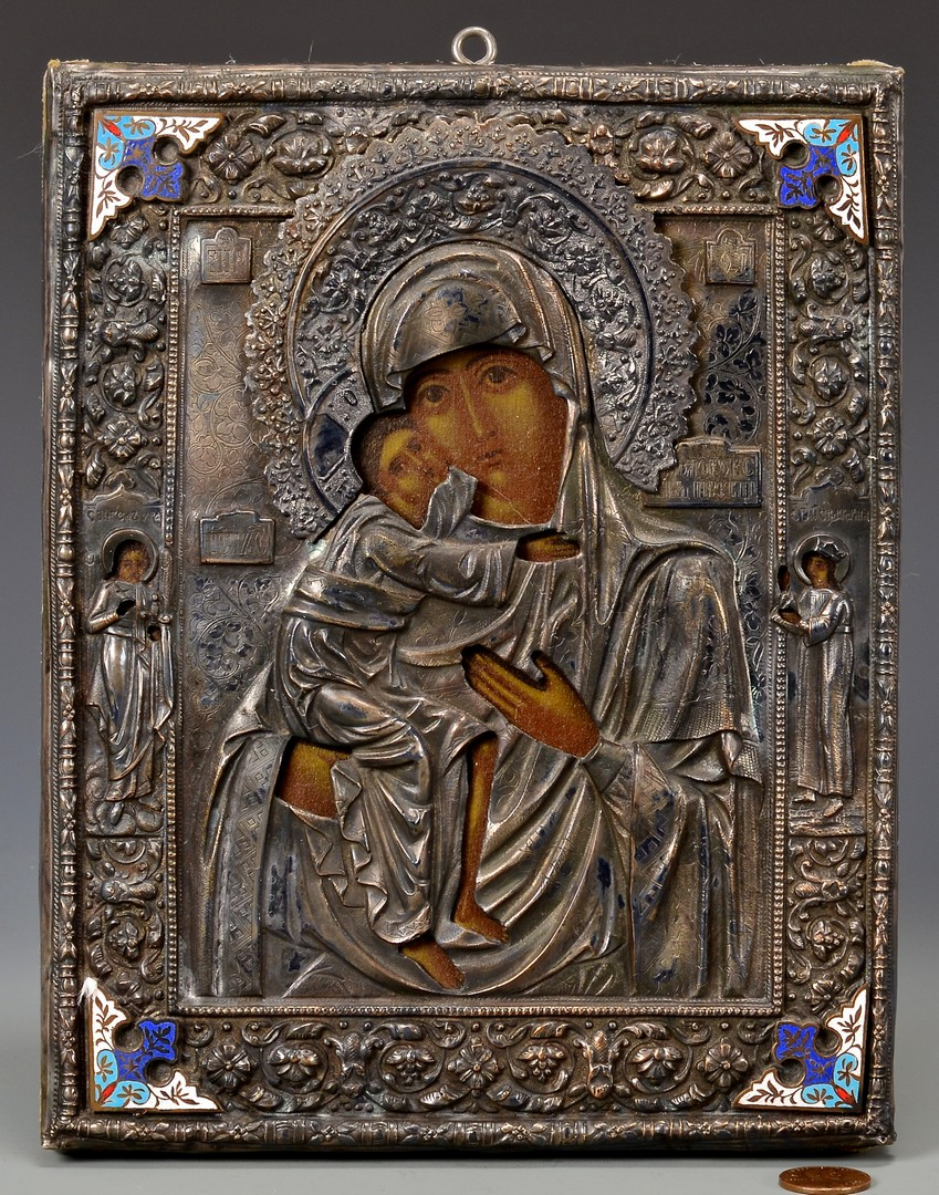 Lot 224: Russian Mother of God from Vladimir Icon