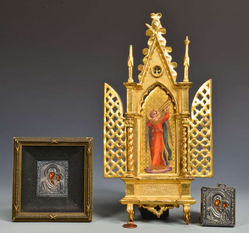 Lot 229: 3 European Ecclesiastical Items