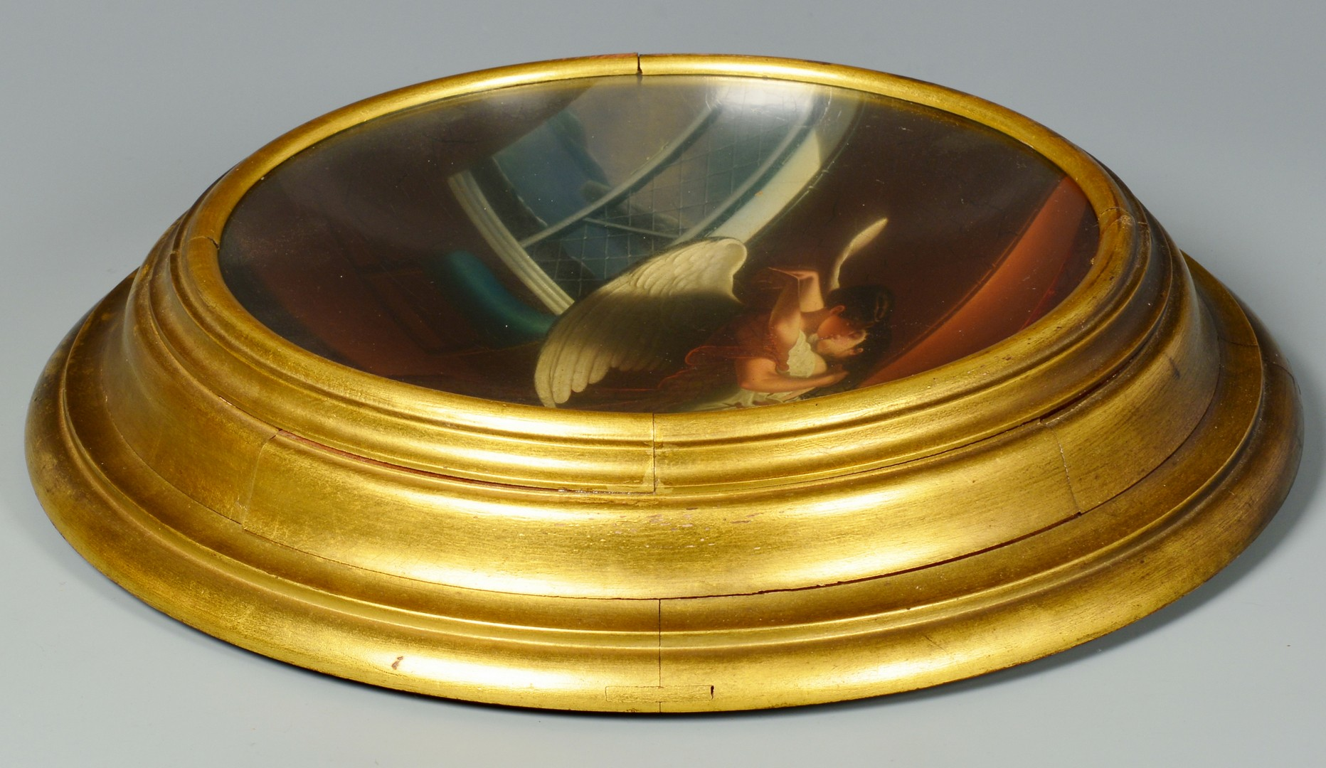 Lot 232: Russian Lacquer Bowl w/ Imperial Marks