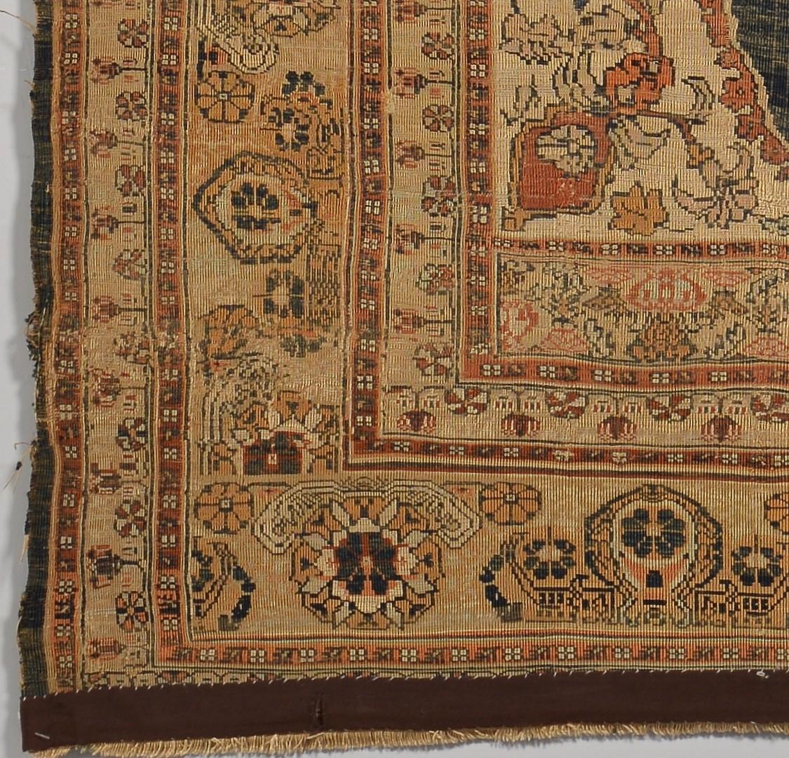Lot 239: Antique Silk Tabriz Prayer Rug