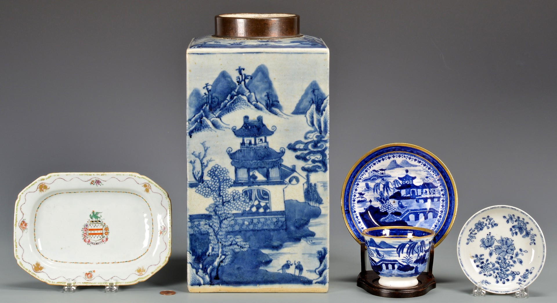 Lot 23: 5 Chinese Export Items inc. Armorial