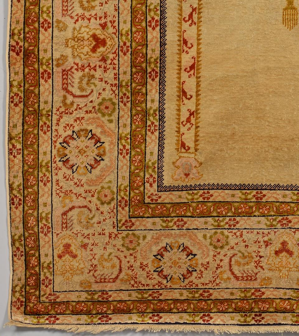 Lot 240: Turkish Silk Prayer Rug, c. 1900