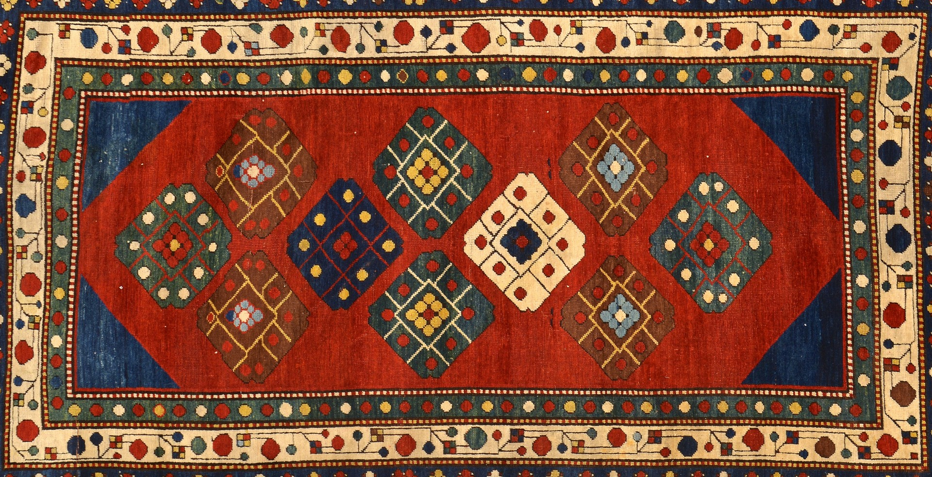 Lot 241: Antique Lori Pambak Kazak Area Rug