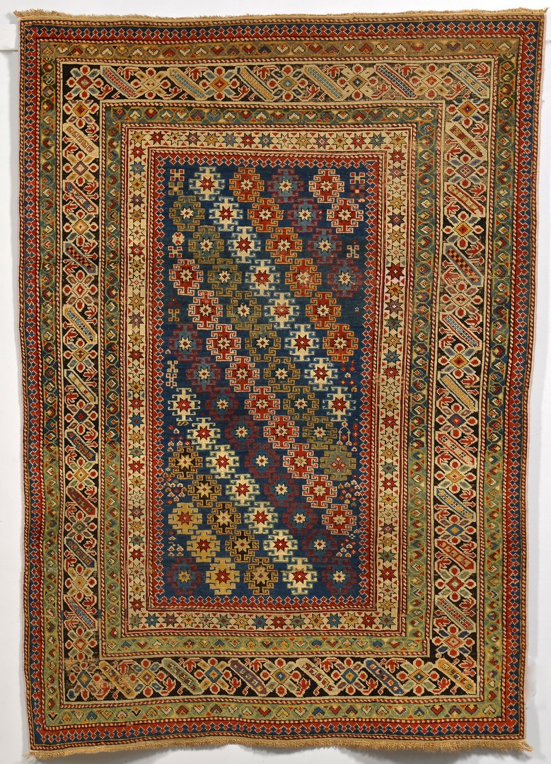 Lot 242: Antique Caucasian Chi Chi area rug