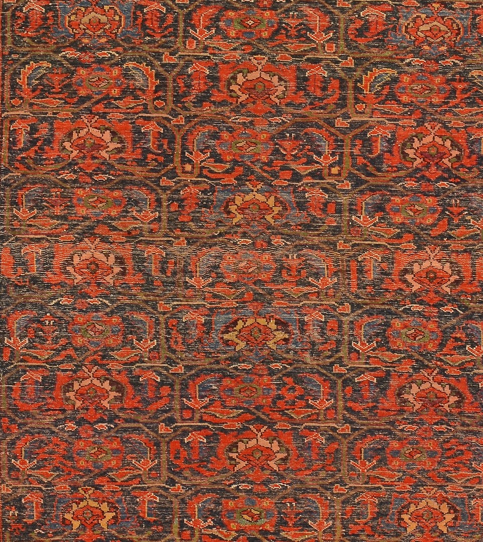 Lot 245: Mission Malayer area rug, early 20th c.