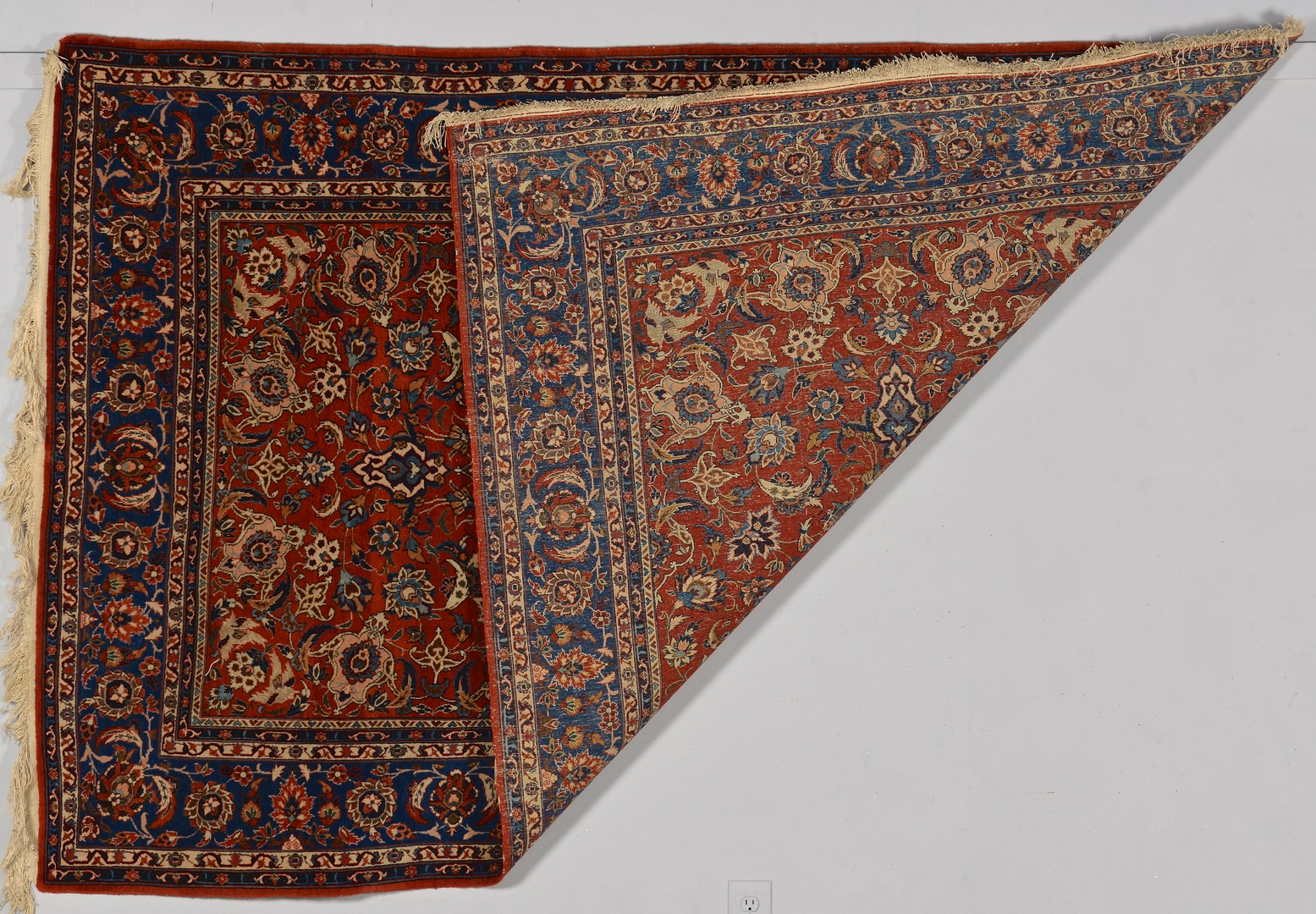 Lot 246: Semi-antique Persian Ispahan Rug