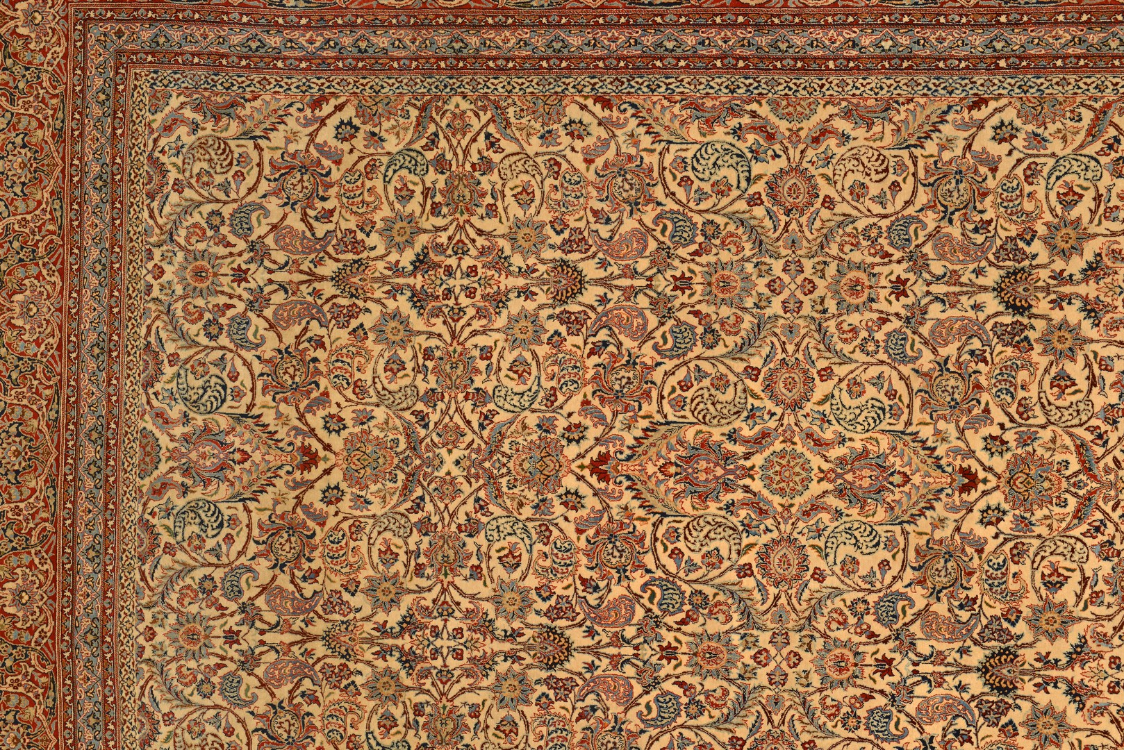 Lot 247: Fine Persian Nain or Isfahan Rug