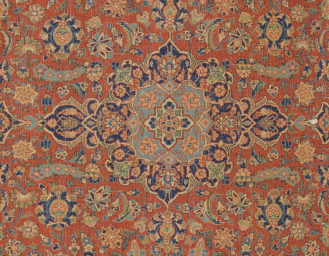 Lot 248: Persian Kashan area rug, c. 1920-30