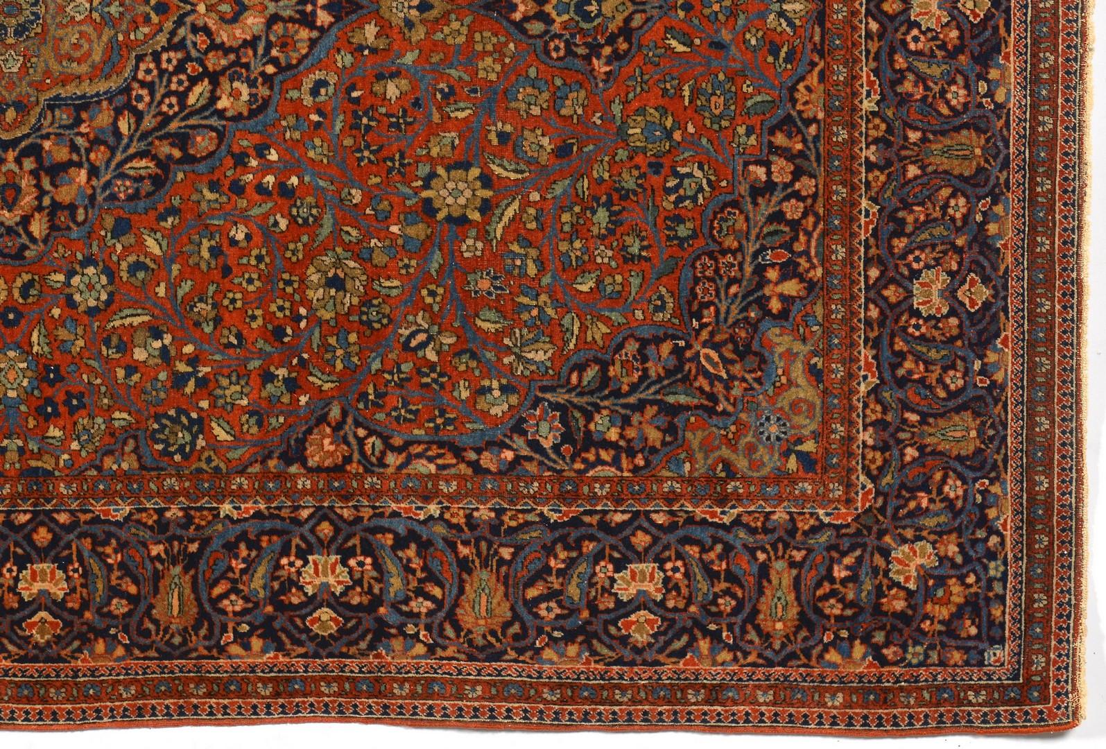 Lot 249: Antique Persian Kashan area rug
