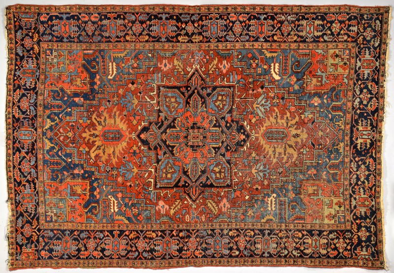 "Lot 251: Persian Tabriz or Heriz Rug, 10'8"" x 7'5"""