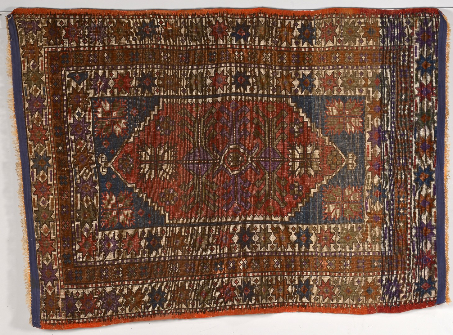 Lot 252: Bergamo Turkish area rug, circa 1900