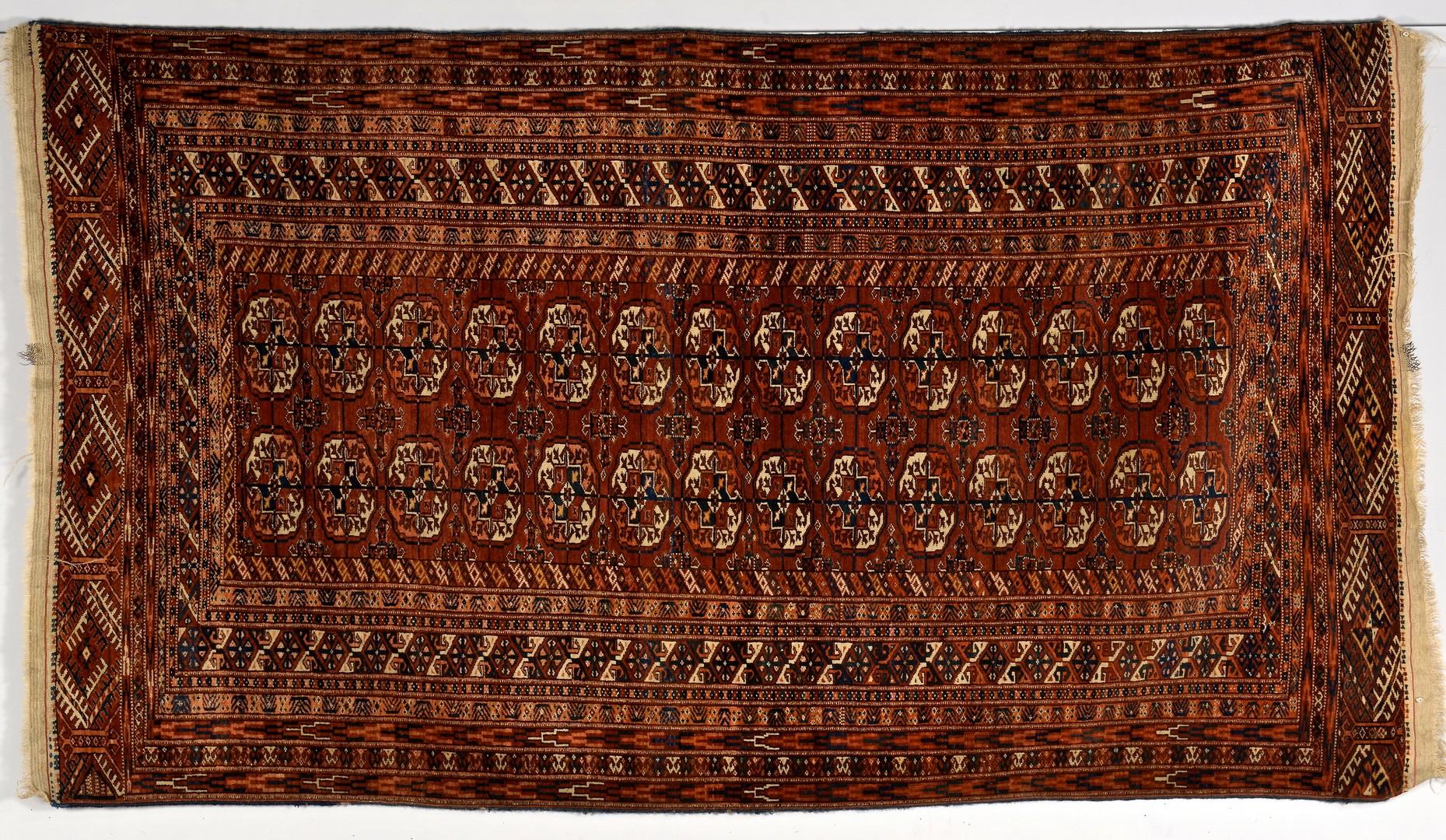 Lot 255: Semi-antique Tekke Turkoman rug