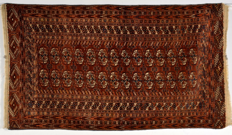 Lot 255: Semi-antique Tekke Turkoman rug