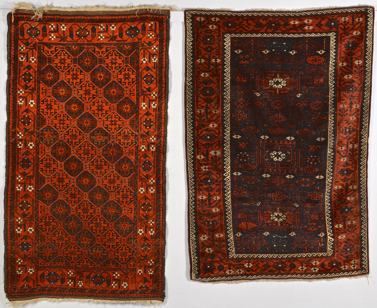 Lot 257: 2 Baluchi area Rugs, 1st half 20th c.