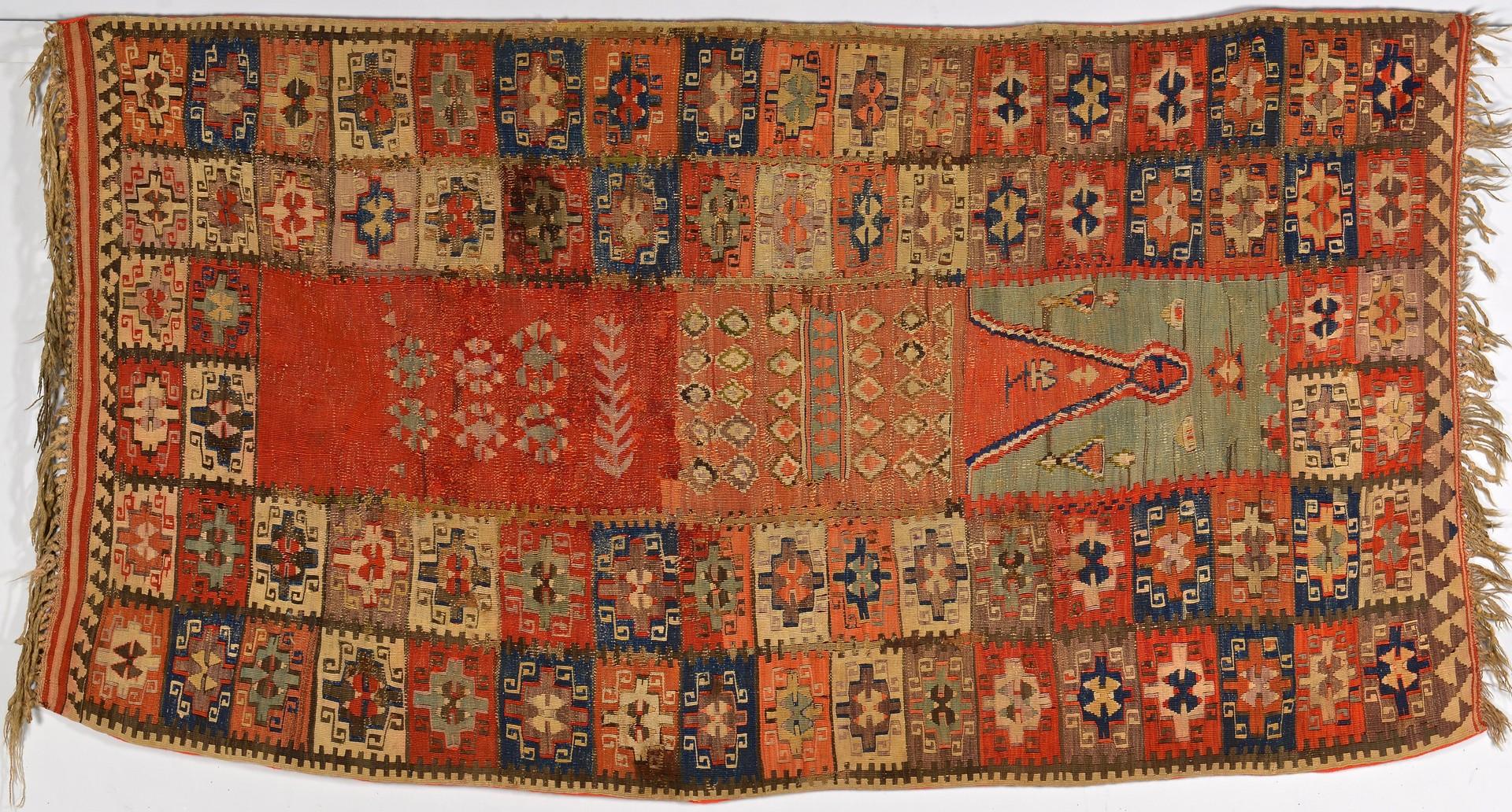 Lot 260: Antique Anatolian Kilim Prayer Rug, 19th century