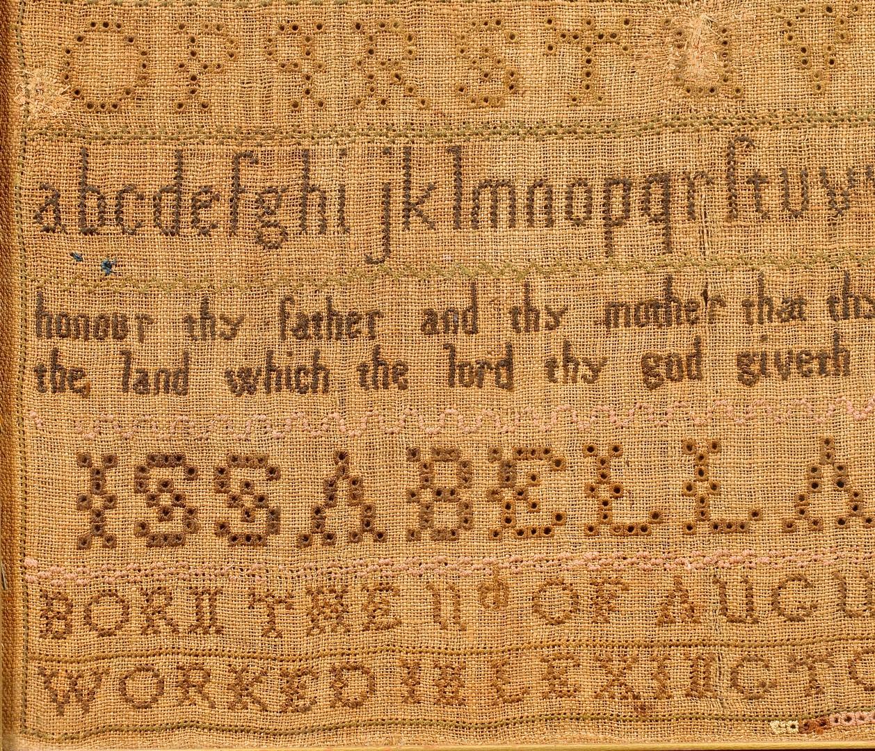 Lot 266: 1791 Dated Sampler, Lexington KY
