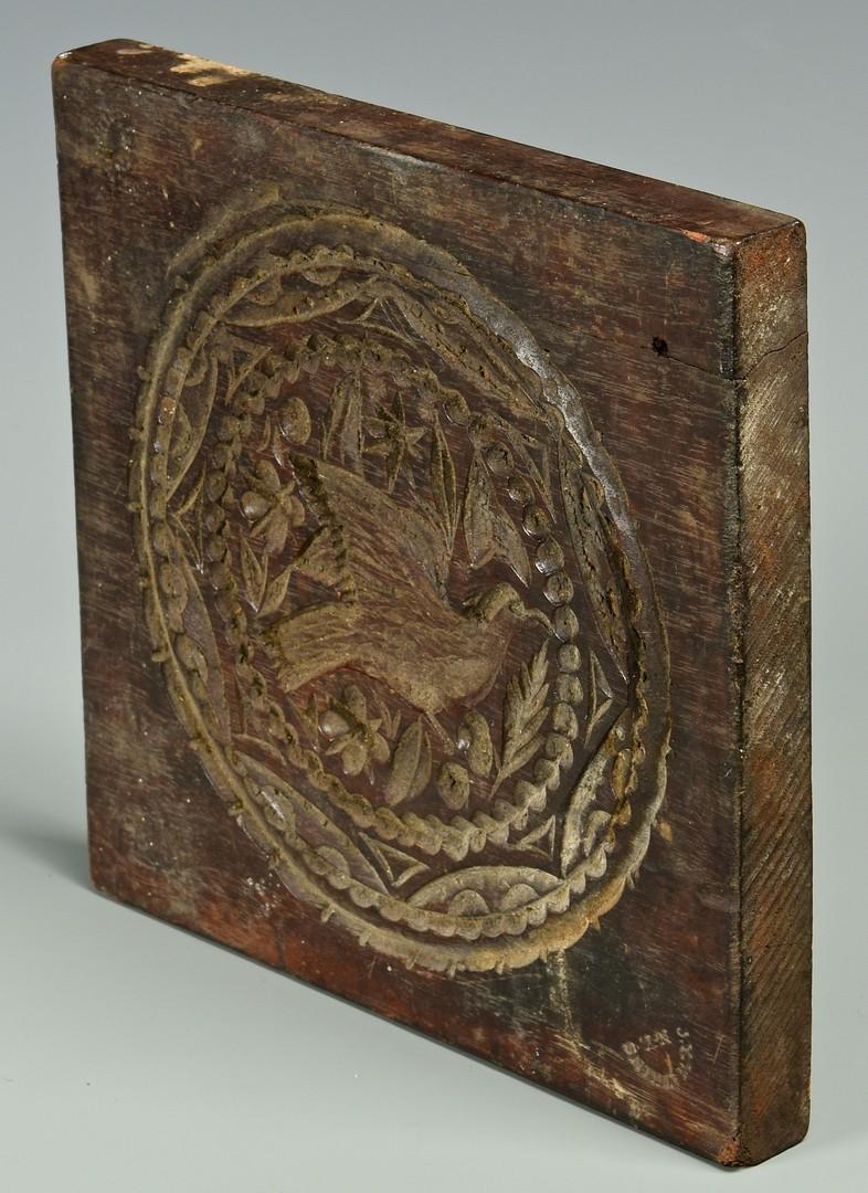 Lot 270: 19th C Carved Mahogany Cake Board, signed Watkins