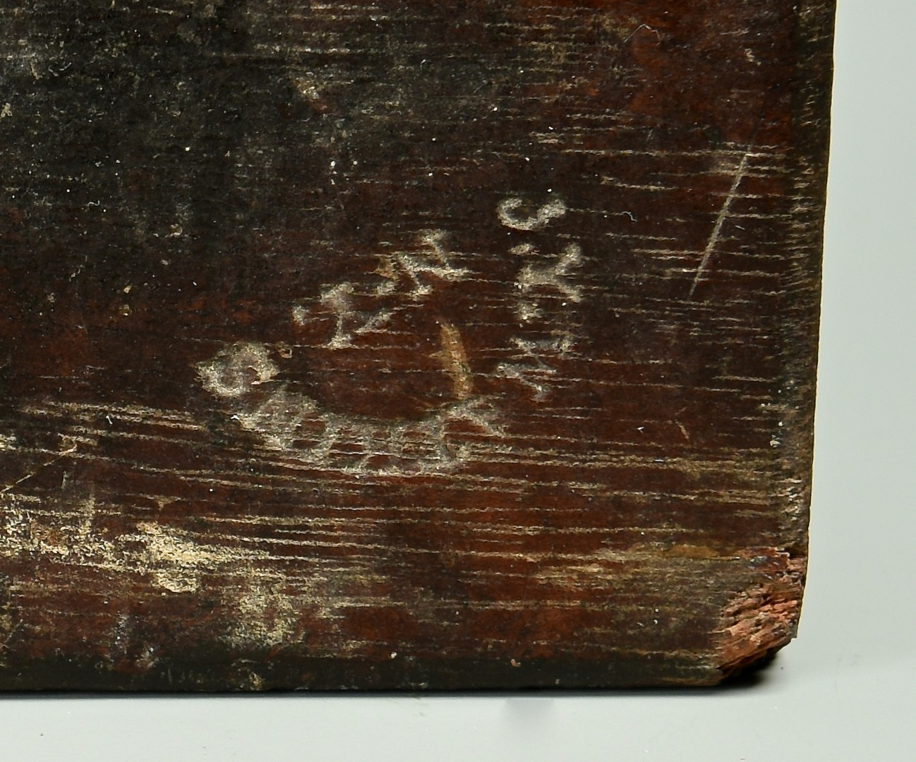 Lot 270: 19th C Carved Mahogany Cake Board, signed Watkins
