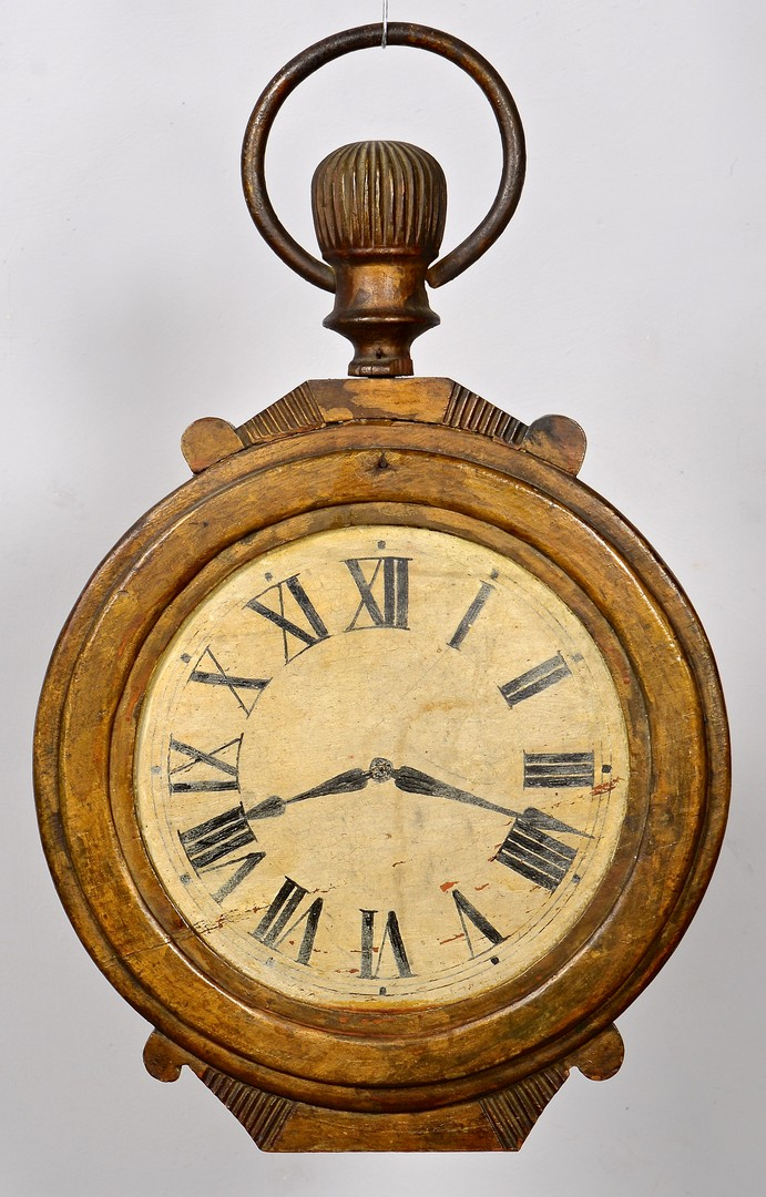 Lot 271: Iron and Painted Watch Sign