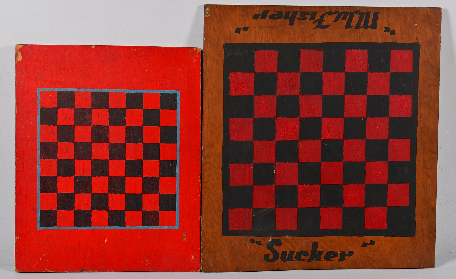 Lot 275: 4 Folk Art Painted Game Boards