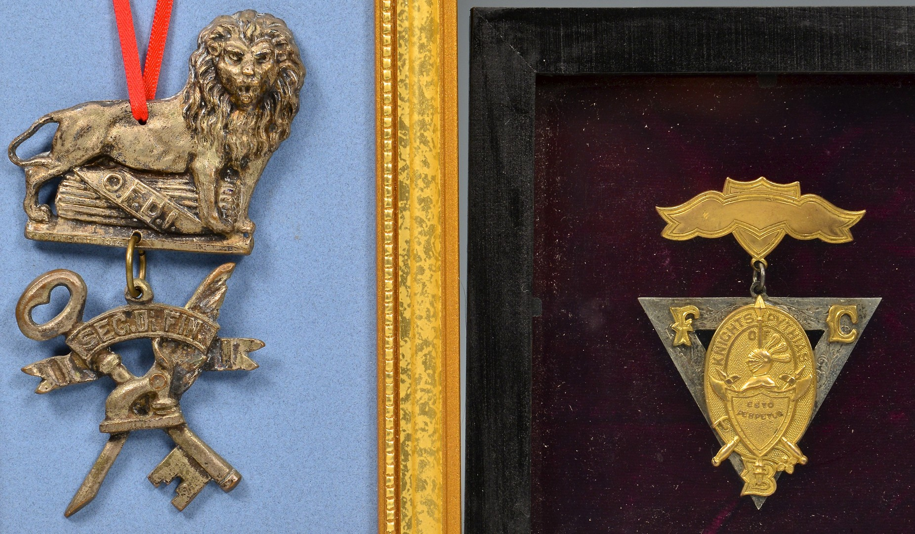 Lot 277: 7 Secret Society Related Items, incl. Odd Fellows