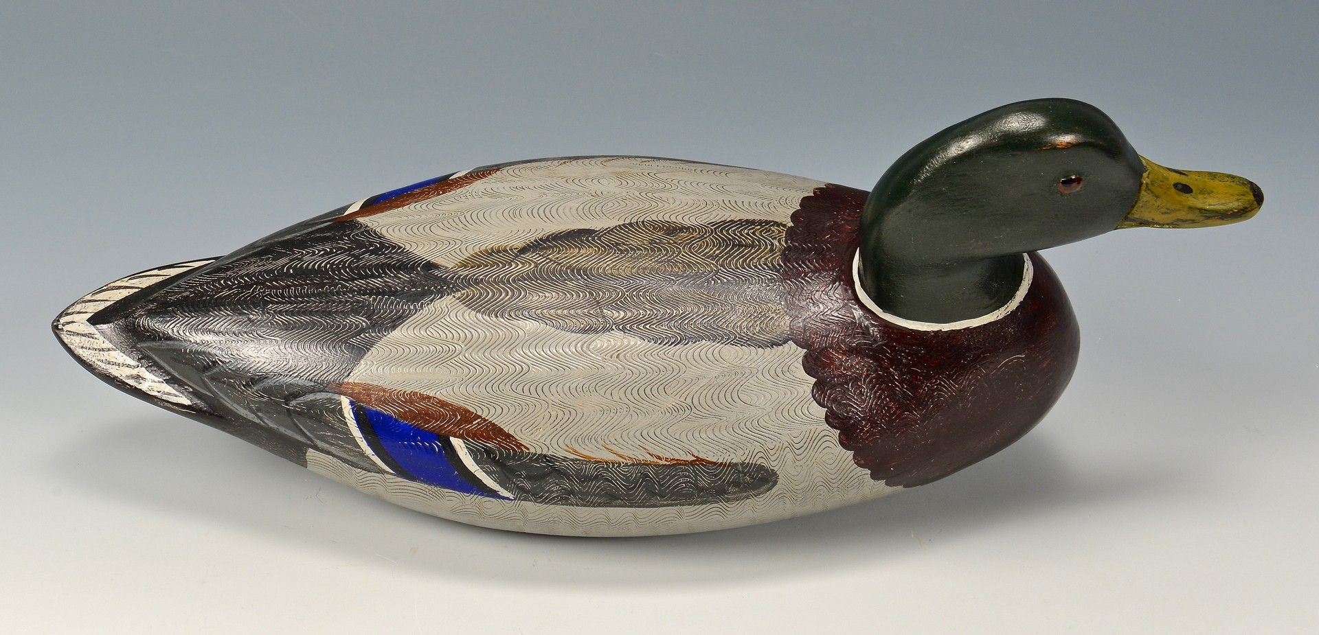 Lot 279: 4 Carved & Painted Duck Decoys, 2 signed