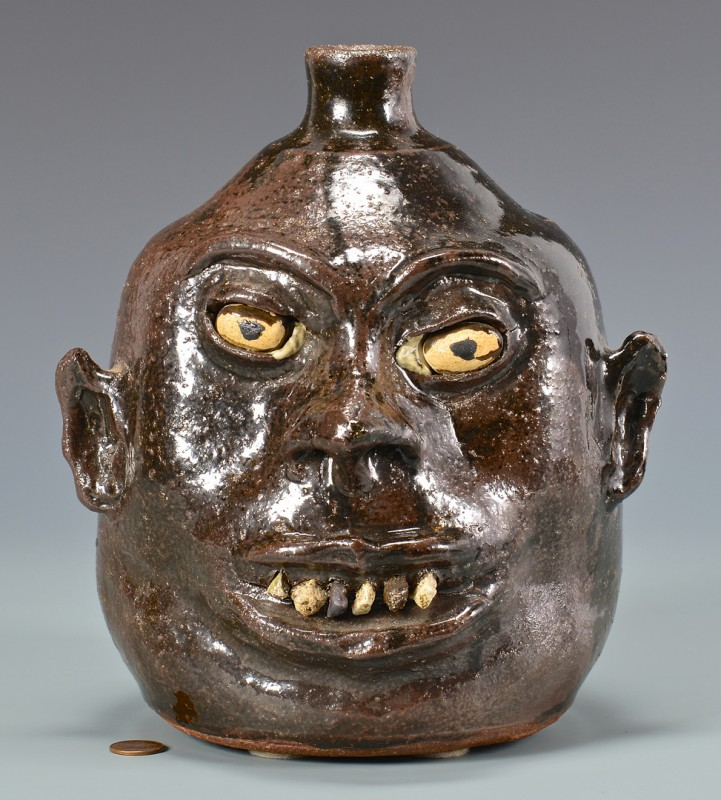 Lot 281: Lanier Meaders Face Jug