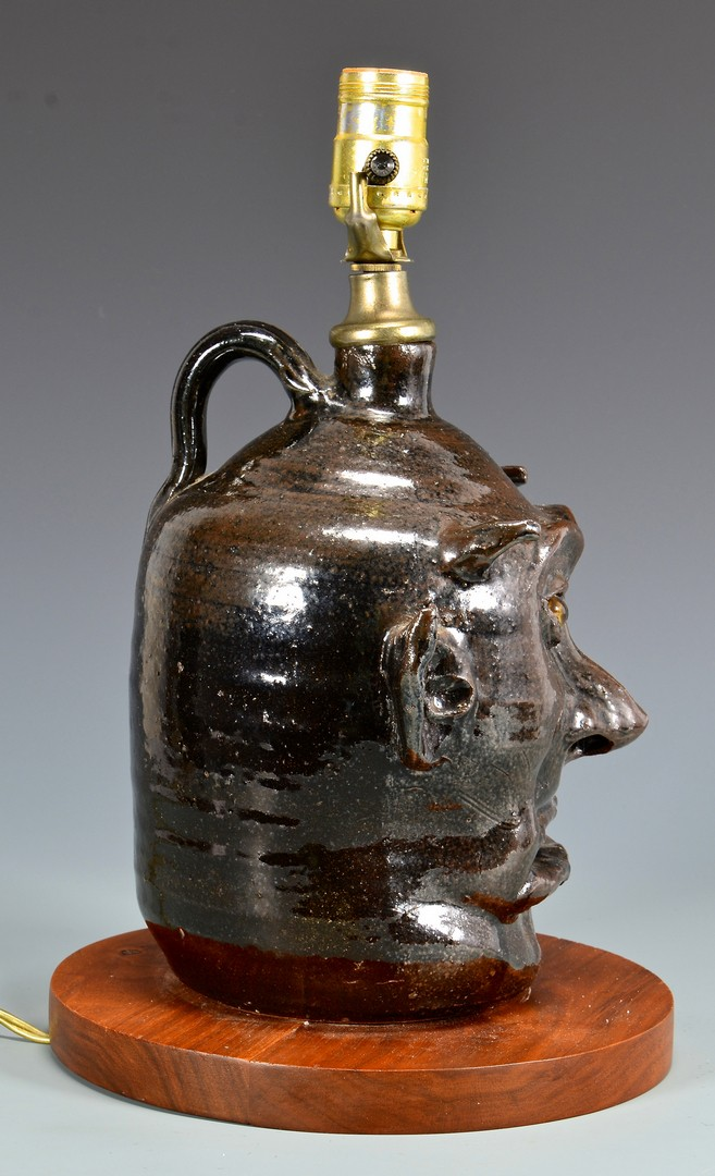 Lot 283: Lanier Meaders Devil Jug Lamp
