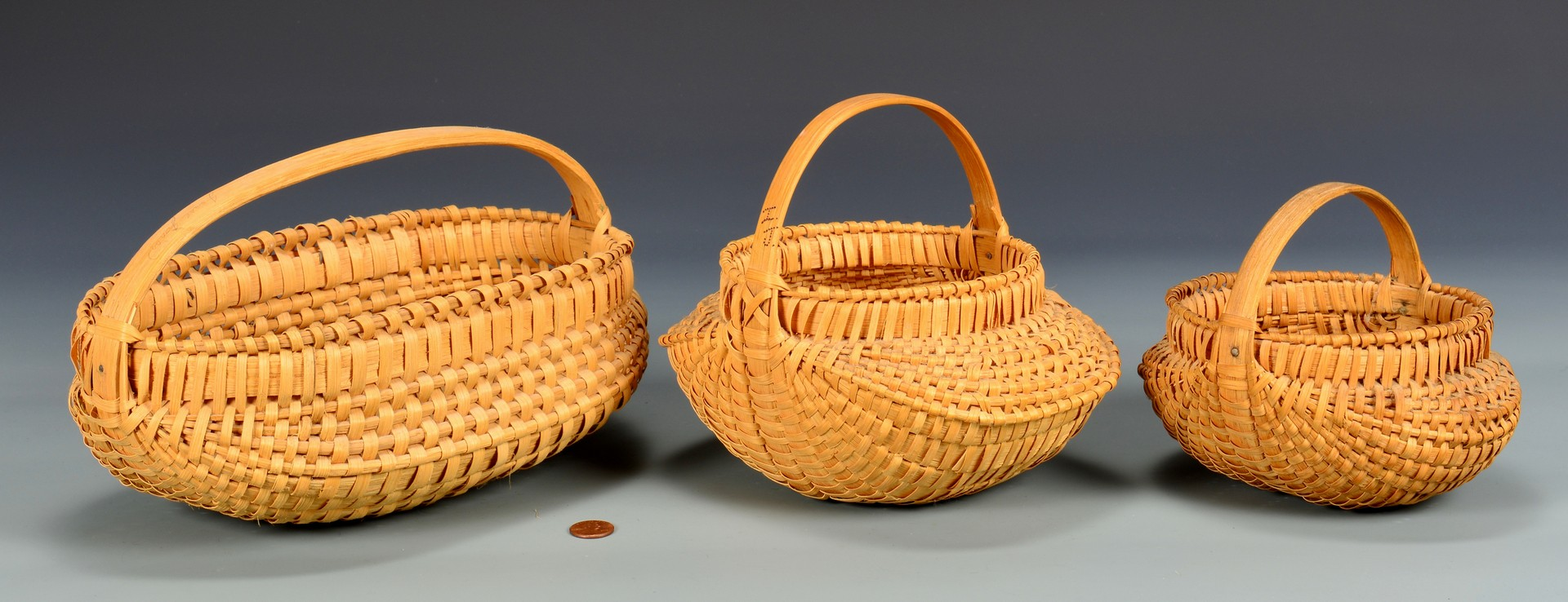 Lot 288: 3 Signed Southwest VA Jones Family Baskets