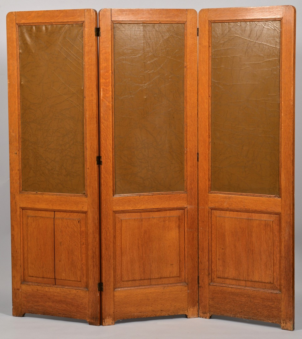 Lot 295: Panel Screen, J. W. Fosdick Pyrography