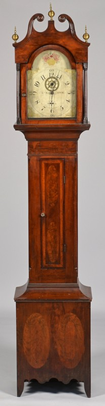 Lot 298: L.W. Lewis Tall Case Clock, Trumbull Co. Ohio