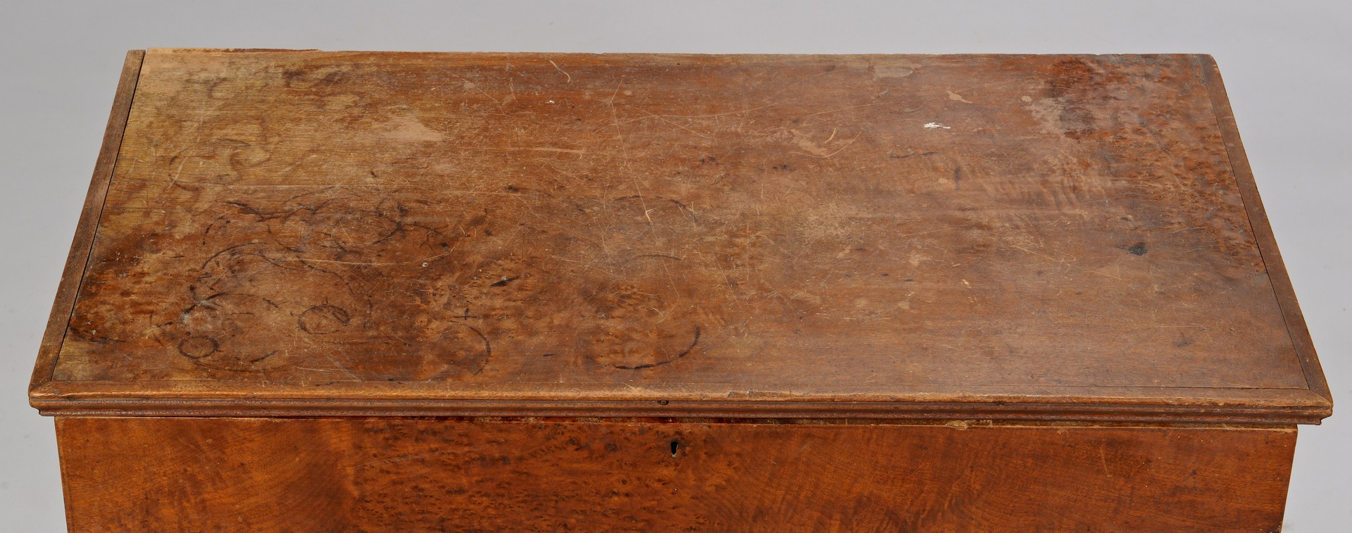 Lot 299: Ohio River Valley Small Walnut Blanket Chest, Dove