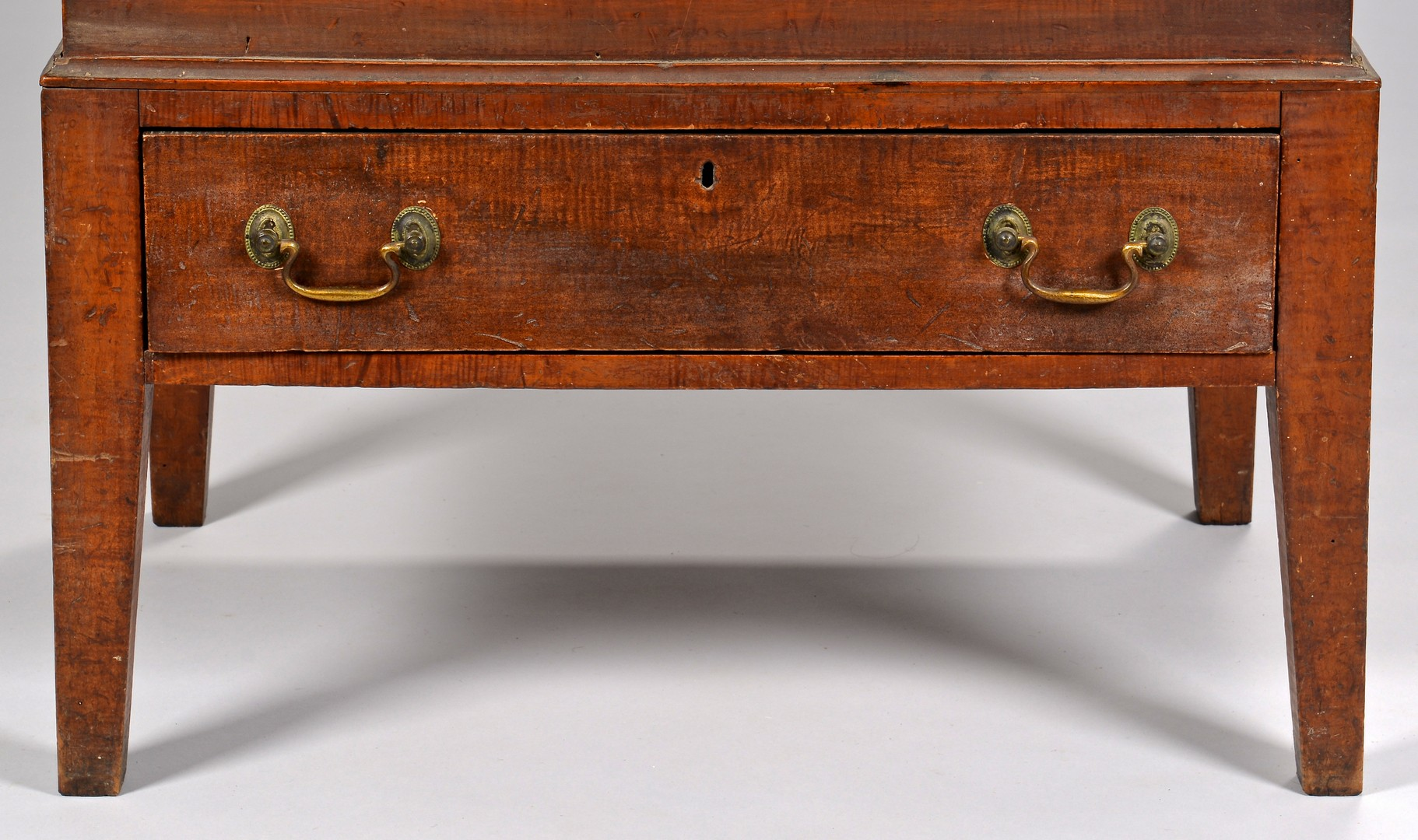 Lot 300: Tiger Maple Sugar Chest, Yellow Pine Secondary