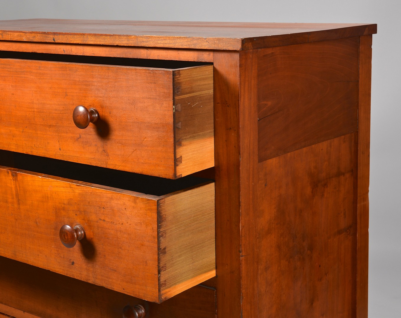 Lot 301: Kentucky Cherry Chest of Drawers, poss. Shaker