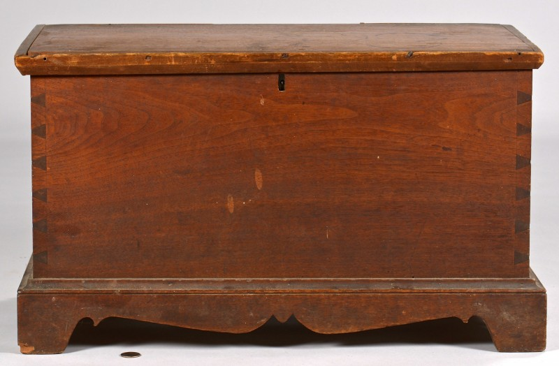 Lot 304: KY Walnut Dovetailed Blanket Box, Paris