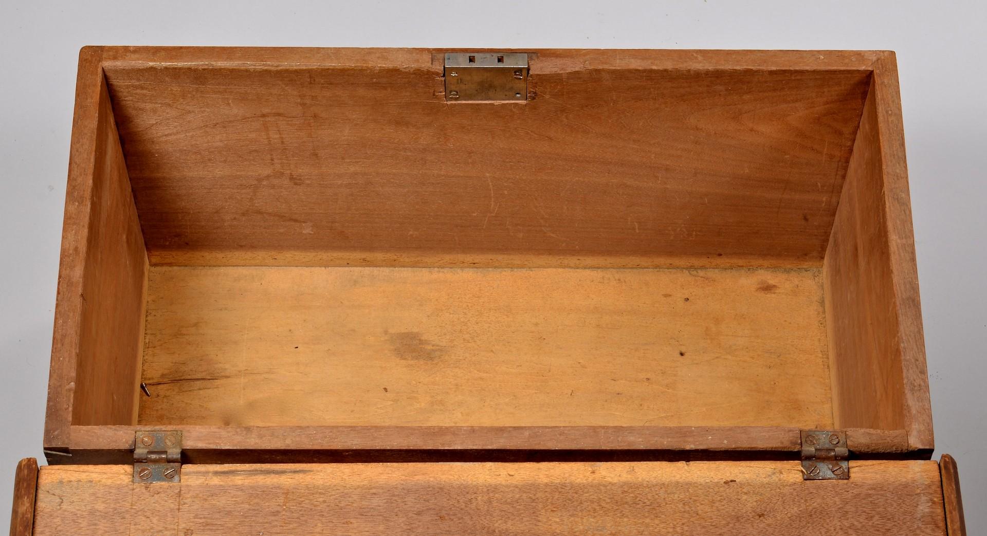 Lot 304: KY Walnut Dovetailed Blanket Box, Paris
