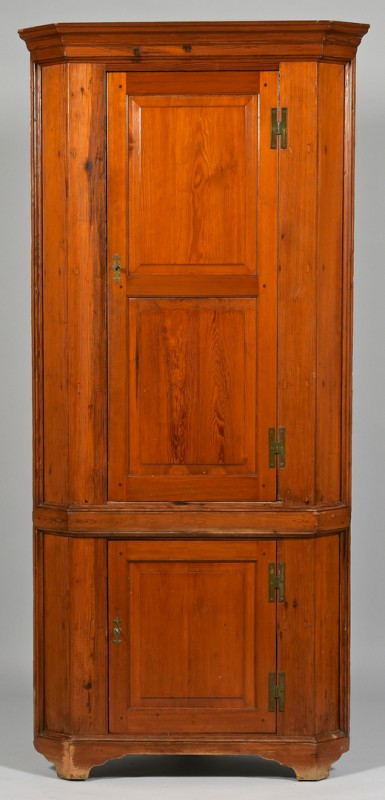 Lot 309: Yellow Pine Corner Cupboard