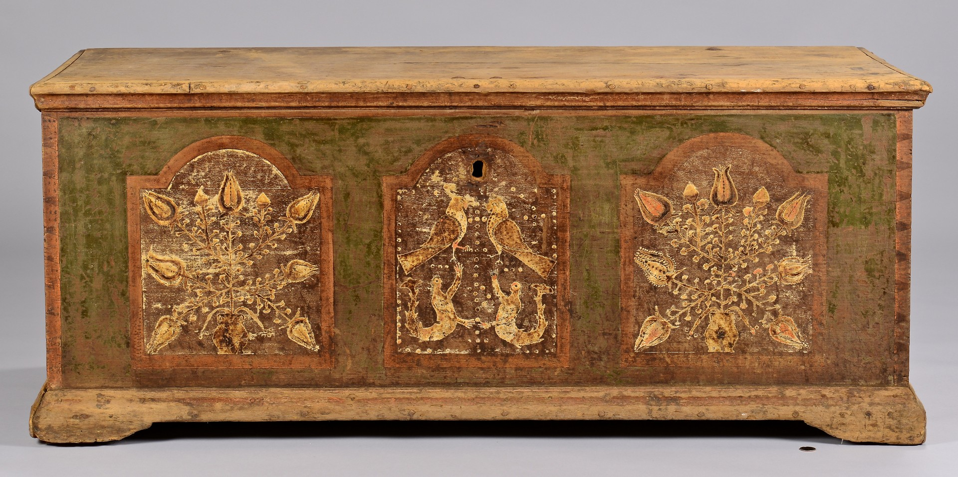 Lot 310: Wythe County, VA Paint Decorated Blanket Chest
