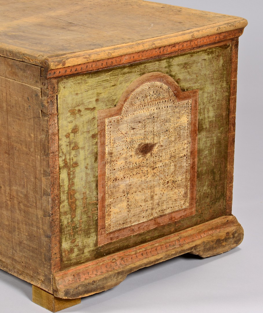 Lot 310 Wythe County Va Paint Decorated Blanket Chest
