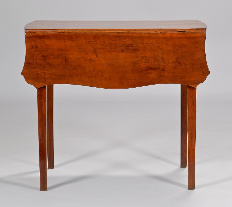 Lot 312: Southern Cherry Pembroke Table w/ Serpentine Shape