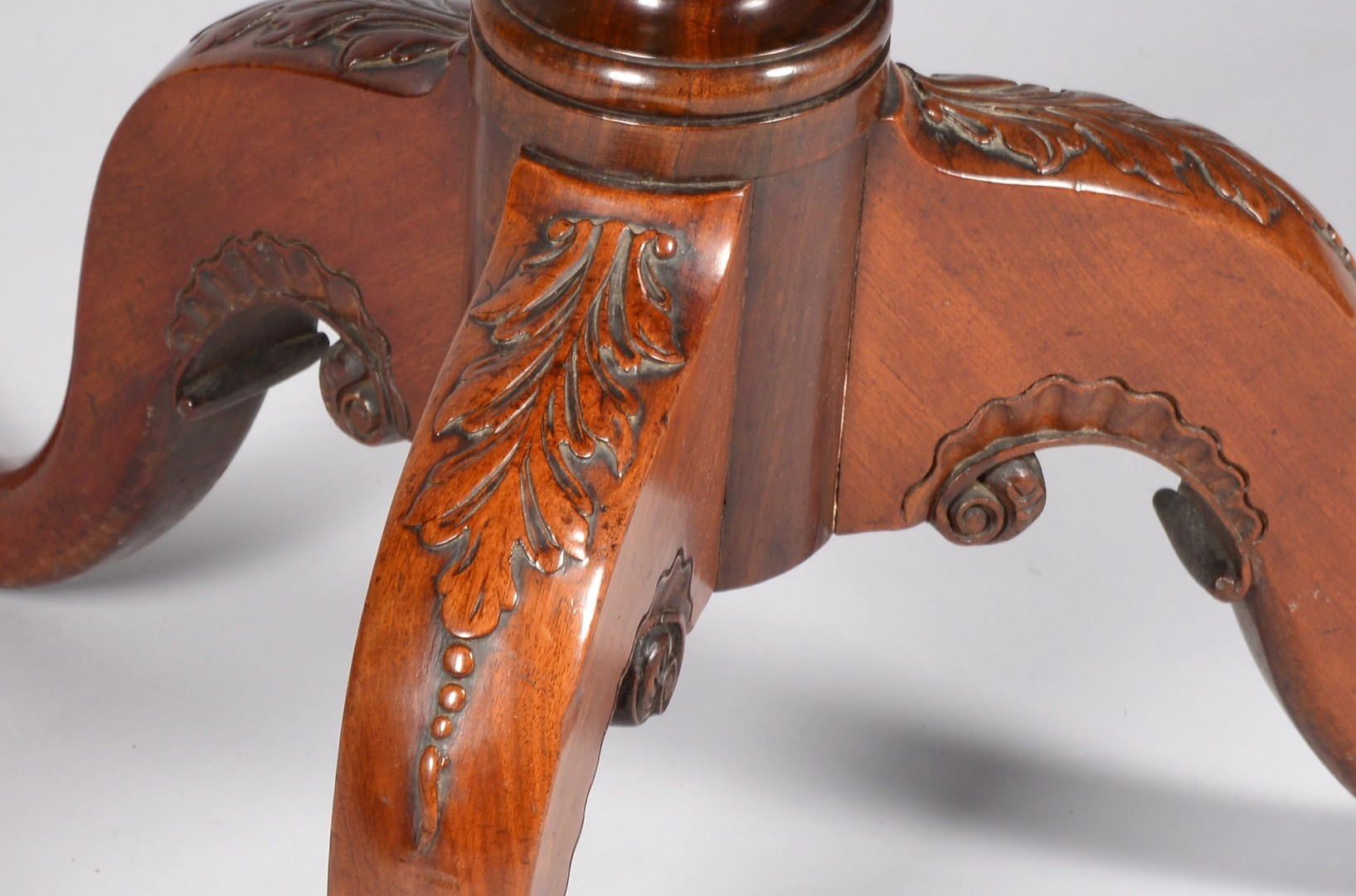 Lot 315: Chippendale Period Carved Tea Table