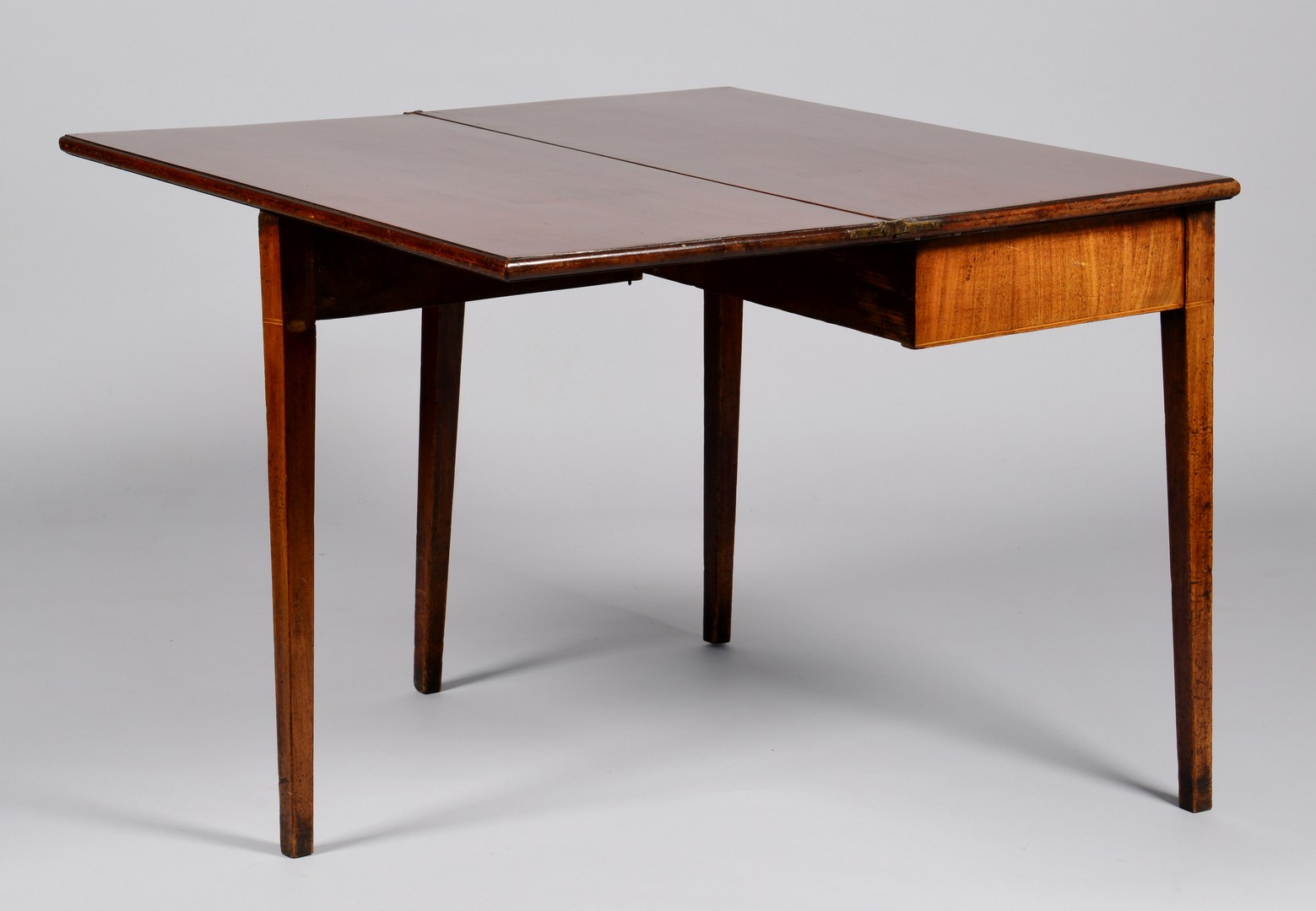 Lot 316: English Hepplewhite Inlaid Card Table