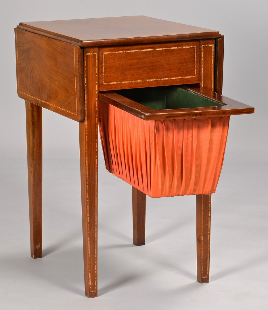 Lot 320: English Games Table and Sewing Table