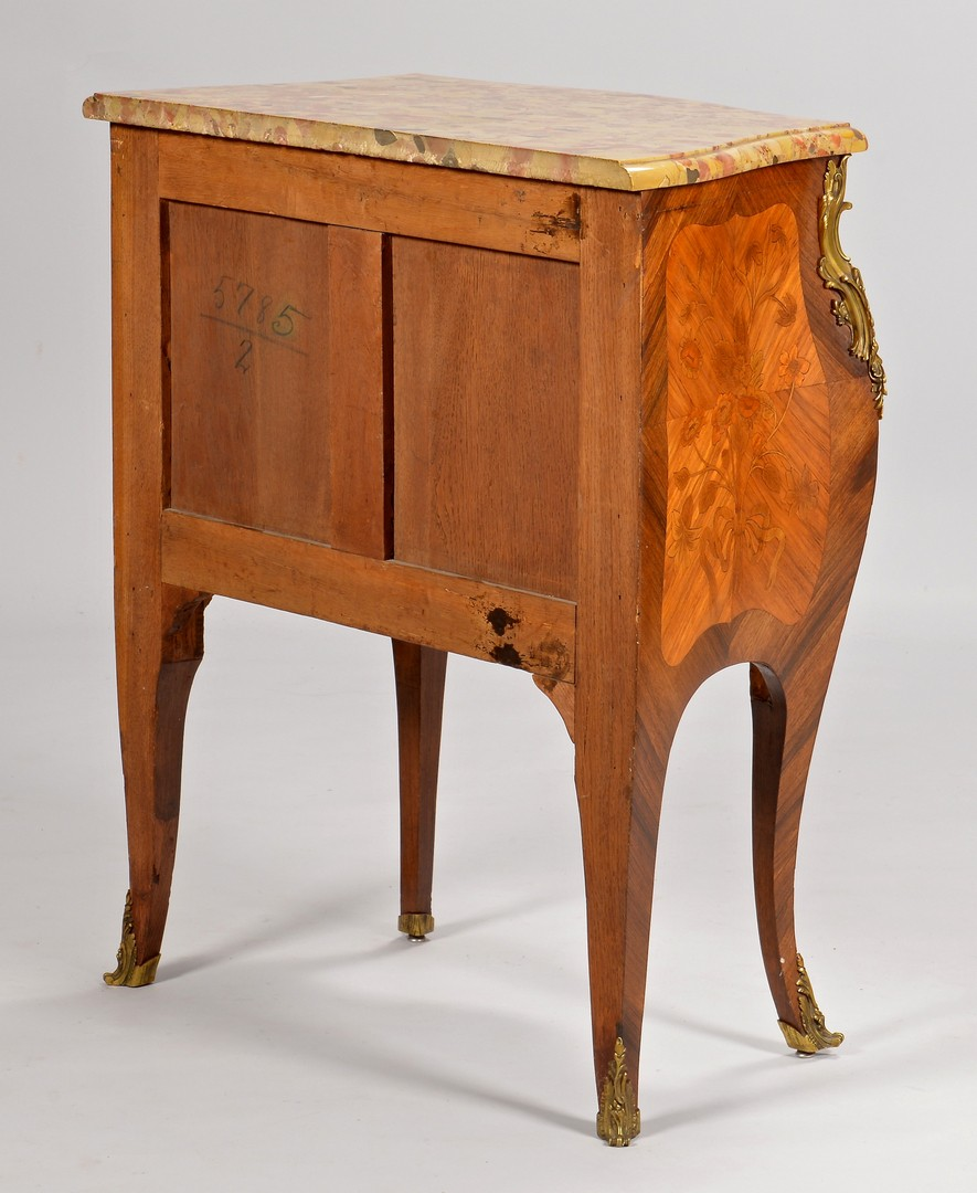 Lot 321: French Louis XV Style Commode, Inlaid
