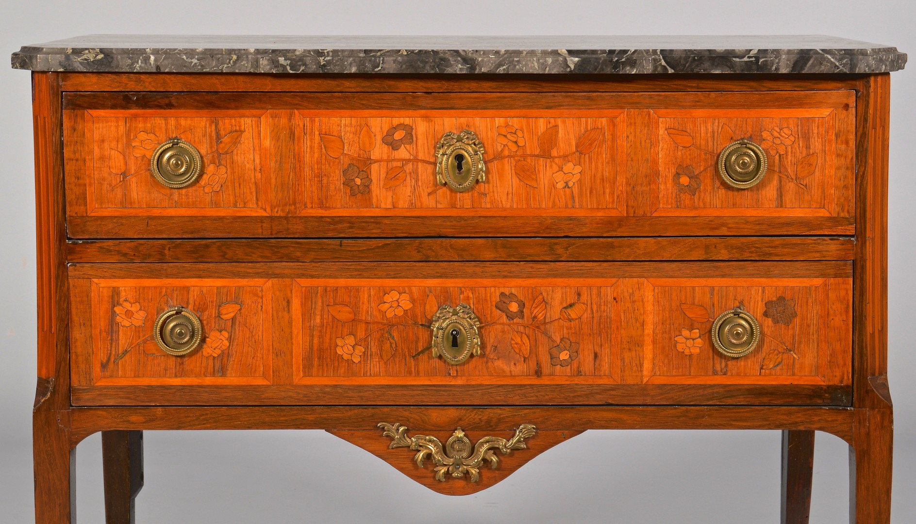 Lot 322: French Louis XVI style Commode with Inlay